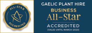 Gaelic Plant Hire All Star Accreditation